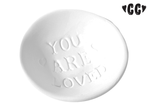 "You are loved dish - 3 1/2"" Dia. x 1"" H"