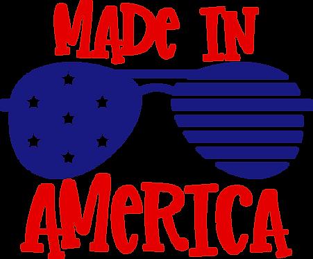 Made in America stencil