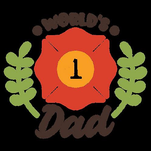 """""""World's #1 Dad"""" Stencil"""