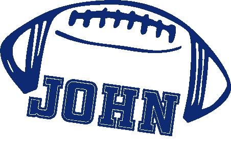 Monogram Football Stencil