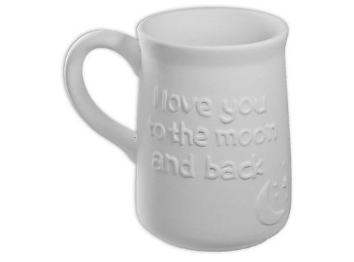 "Moon and back mug - 3⅛"" Dia. x 4⅝"" H (12 Ounces)"