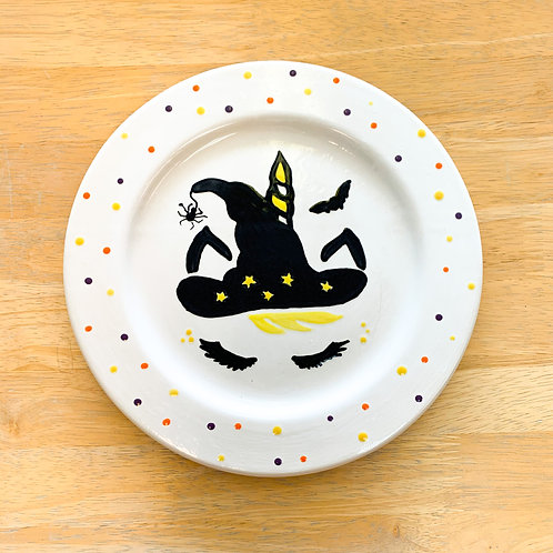 Witch Unicorn Plate