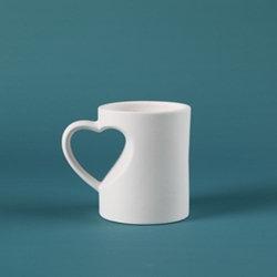 Medium heart mug - 5 in. x 3.5 in. x 4.25 in.