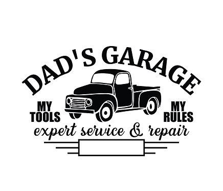 """""""Dad's Garage"""" Stencil"""