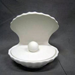 Clam shell jewelry box - 5 3/4 in.H