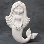 Mermaid plaque - 12.25 in.L x 10 in.W x 1.5 in. Dia.