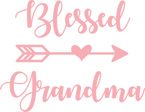 """Blessed Grandma"" Stencil"