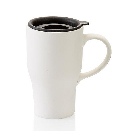 Travel mug with lid - 3.625D x 5.75H