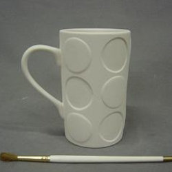Mug with large dots - 5 in. H x 3 in.