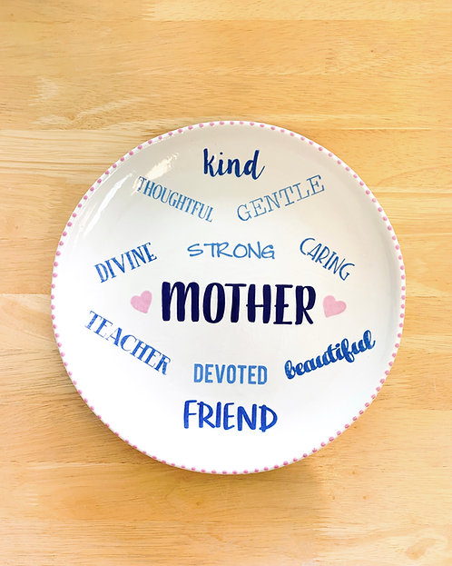 About my Mom Plate