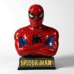 Spiderman bank - 8 1/2 in.H X 6 in.W