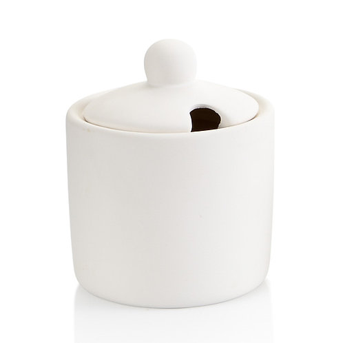 Sugar bowl with notched lid - 3.25D x 4H