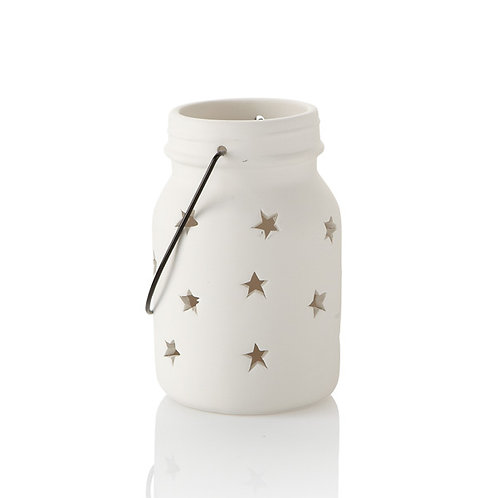 Jar star lantern lg. - 5.5H x 3.25W