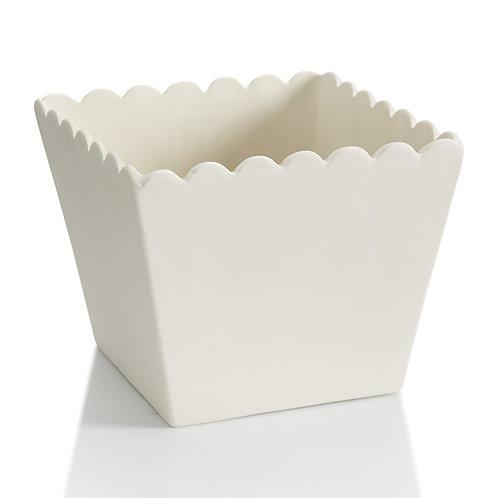 popcorn bowl - large  6.5H x 7.75SQ