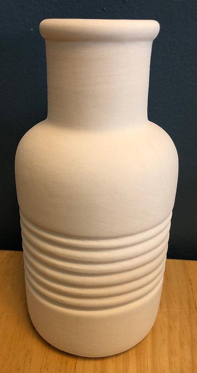 """Textured vase - 6 ¼"""" H x 3"""" W"""