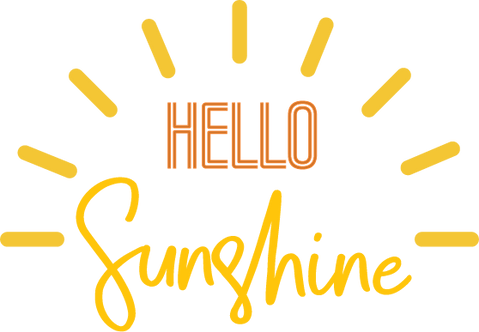 """Hello Sunshine"" Stencil"