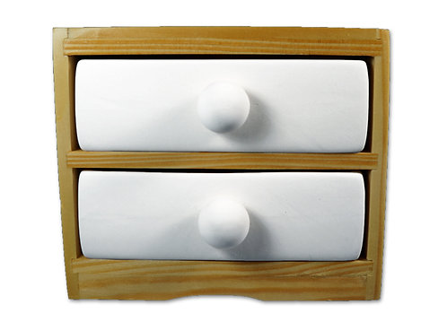 "Two drawer holder - 6"" L x 3"" W x5 ¼"" H"