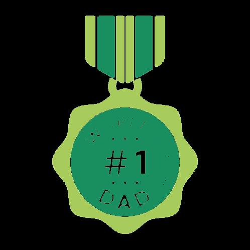 #1 Dad Metal Stencil