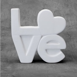 LOVE plaque - 7in. x 2in. x 7in