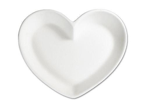 """Heart dish - small - 6 ¼"""" L x 5 ¼"""" W x 1"""" H"""