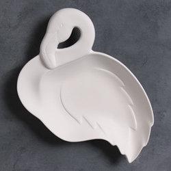Frieda Flamingo dish - 10 in.L x 7 in.W. x 1.25 in.H