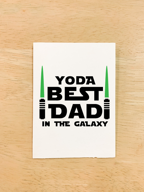 """Yoda Best Dad"" (Card/Tote/Board/Pillow/Pouch)"