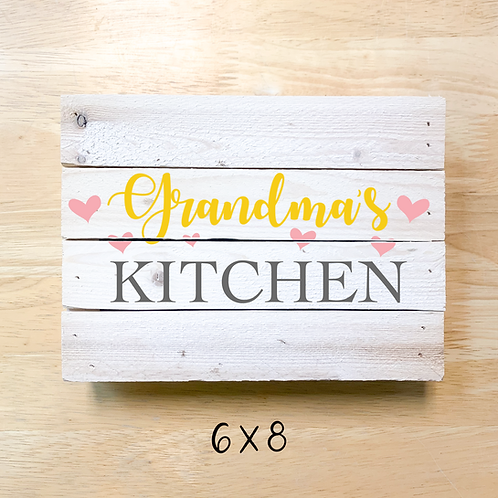 """Grandma's Kitchen"" Board"