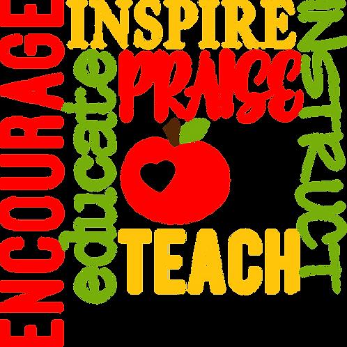 About My Teacher Stencil