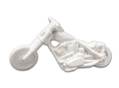 "Motorcycle figurine - 6"" L x 2"" W x 3 ¼"" H"