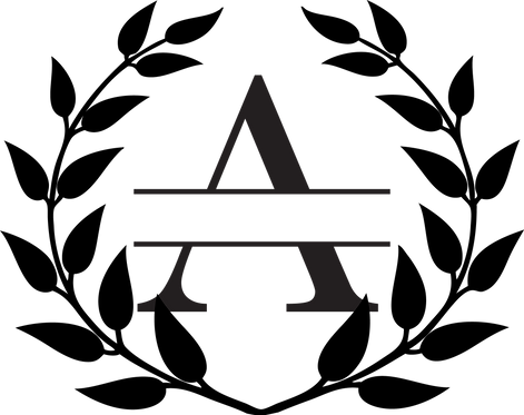 A-O Monogram Wreath Stencil