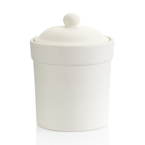 Canister with gasket - medium - 5.75D x 7.75H