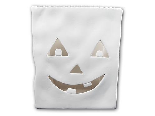 """Jack 0'lantern votive bag - 6"""" H x 3.25"""" W x 5"""" L"""