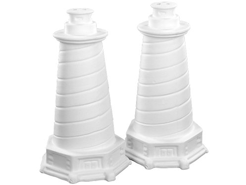 "Lighthouse salt and pepper shakers - set of two 2½"" Dia. x 4¼"" H"