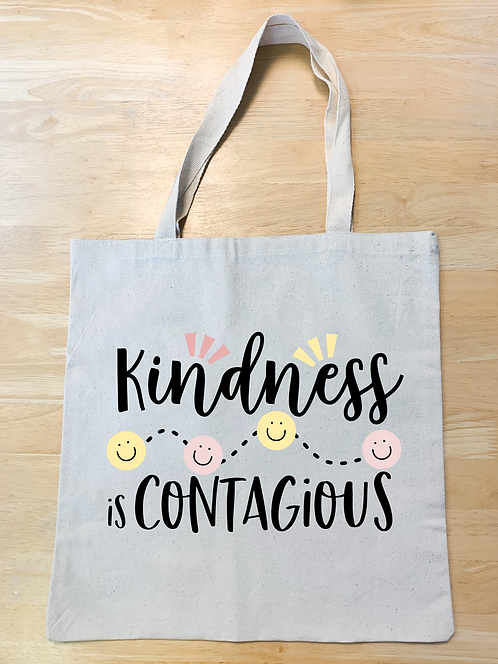 """Kindness is contagious"" Design 2 (Tote)"