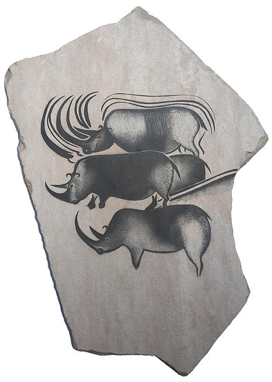 Chauvet Rhinos on sandstone