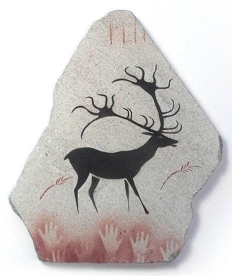 Lascaux Deer painting on limestone