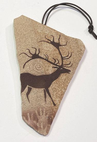Lascaux Giant Deer Stone Ornament