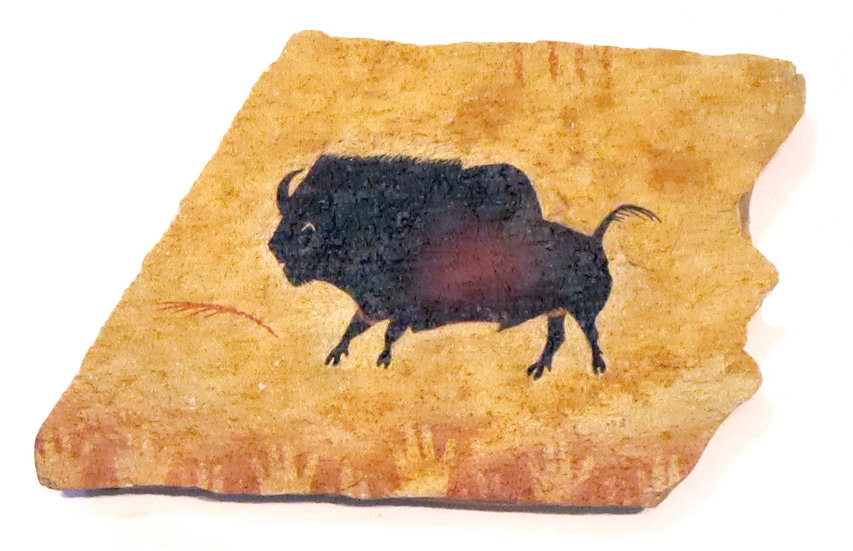 Small Lascaux Bison painting on sandstone
