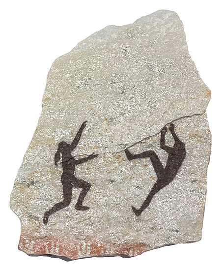 Two Climbers painting on quartzite