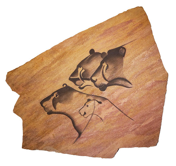 Chauvet Lions on sandstone