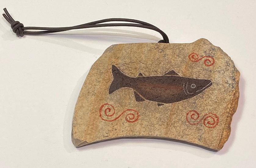 Salmon Stone Ornament