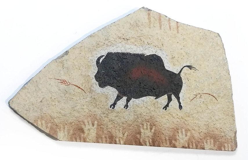 Lascaux Bison painting on sandstone