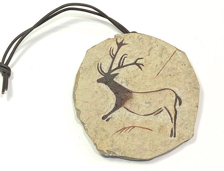 Lascaux Reindeer Stone Ornament