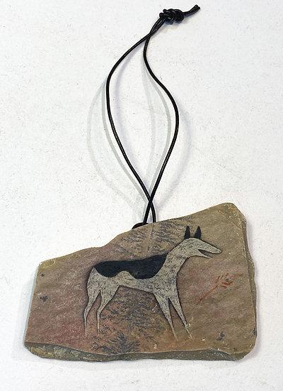 Dog Stone Ornament