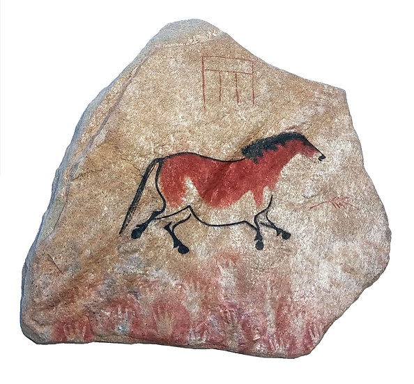 Lascaux Horse painting on stone