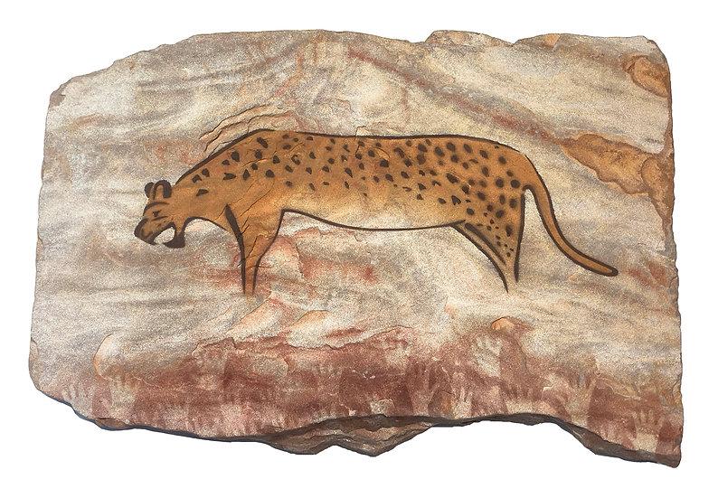 Chauvet Leopard on gold sandstone