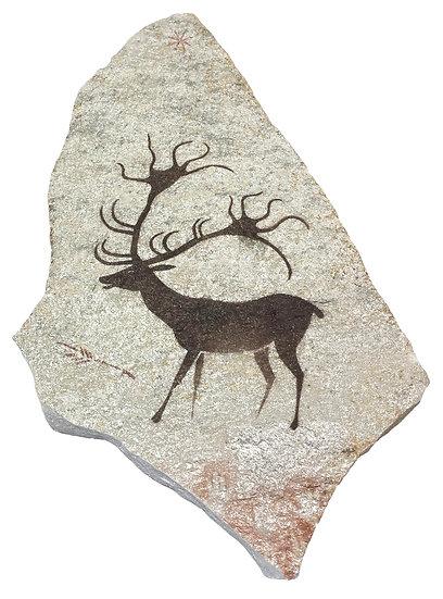 Lascaux Megaloceros painting on quartzite