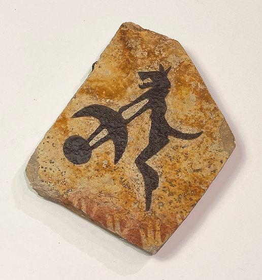 Shaman stone magnet painting