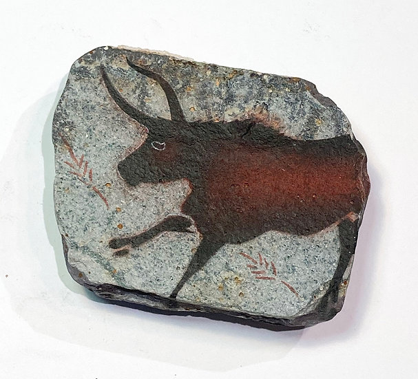 Lascaux Bull Stone Magnet