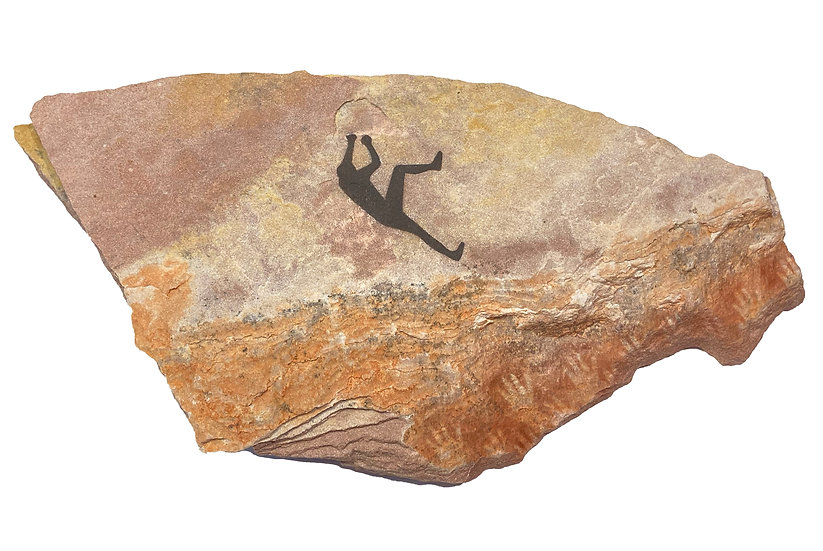 Rock Climber painting on sandstone